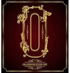 Calligraphic font Letter O vector image vector image