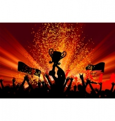 cheering crowd vector image vector image
