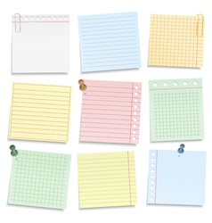 Colored Notebook Paper vector image vector image