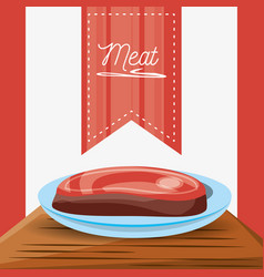 Delicious grilled meat menu restaurant vector
