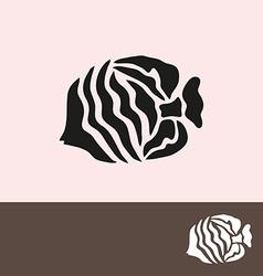 fish symbol vector image