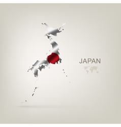 Flag of Japan as a country vector image vector image
