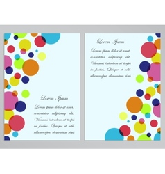 Flyers with colorful circles design vector image
