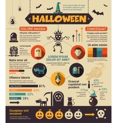Halloween - poster brochure cover template vector image