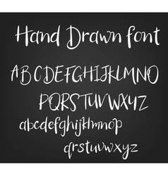 hand drawn calligraphic font Handmade vector image