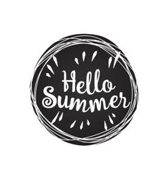 Hello summer lemon vector