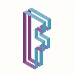 Letter F Logo Icon Design Template Element vector image vector image