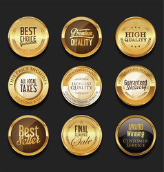 Luxury retro badge and labels collection 1 vector