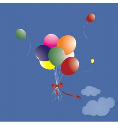 manycoloured balloons vector image vector image