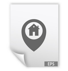 Map pointer house sign icon home location marker vector
