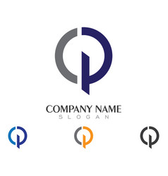 P letter logo business template vector