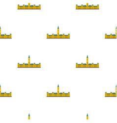 Parliament hill ottawa pattern seamless vector