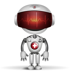 robot cardiogramm vector image vector image