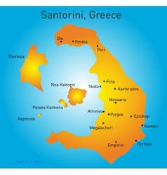 Santorini Greece vector image
