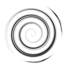 Silver watercolor spiral vector