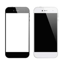 Smartphones black white vector image vector image