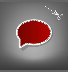 Speech bubble icon red icon with for vector