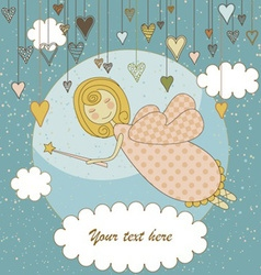 Sweet Fairy Card vector image vector image