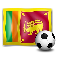 The flag of SriLanka with a soccer ball vector image vector image