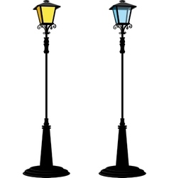 Two street lantern vector image vector image