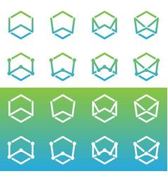 w logo vector image vector image
