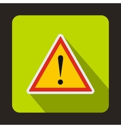 Warning attention sign with exclamation mark icon vector image