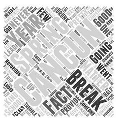 cancun spring break Word Cloud Concept vector image