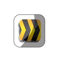 sticker color square 3d button with road traffic vector image