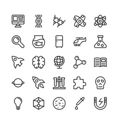 science and technology line icons 4 vector image