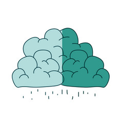 watercolor silhouette of clouds with the rain vector image
