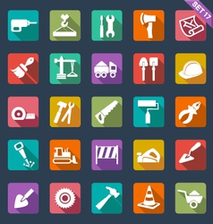 Building and tools icons vector