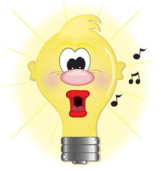 Light bulb singing vector