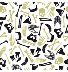 Human bones symbols seamless pattern eps10 vector