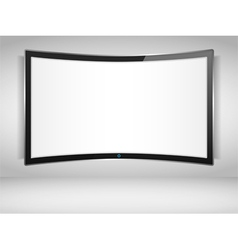 Curved tv screen vector