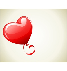 heart as balloon with ribbon vector image