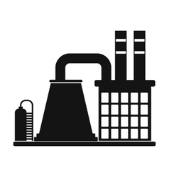 Mining processing plant icon vector
