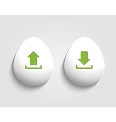 Download and send egg button vector