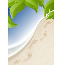 Background to the seaside vector image