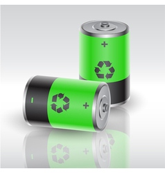 battery 4 vector image