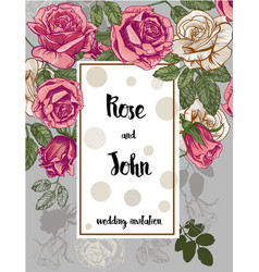 beautiful card with a roses vector image