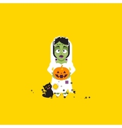 Bride of Frankenstein monster vector image