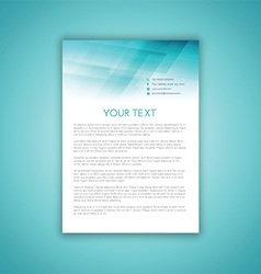 business letterhead template 2406 vector image vector image