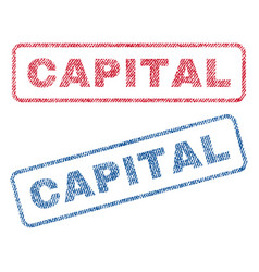 capital textile stamps vector image