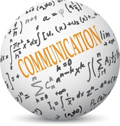 Communication concept with formulas vector image vector image