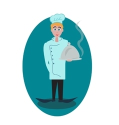 Concept of chef for logomenu vector image