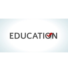 Conceptual word education isolated on white vector image