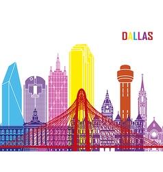 Dallas skyline pop vector
