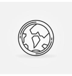 Earth globe concept icon vector image vector image
