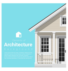 Elements of architecture background vector