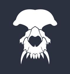 Flat skull vector